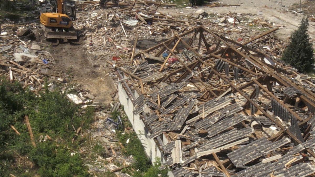 Lagerhalle Günzburg nach Explosion