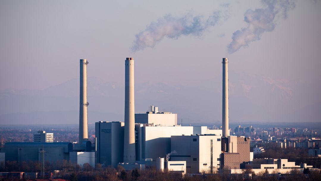 Das Heizkraftwerk München Nord.