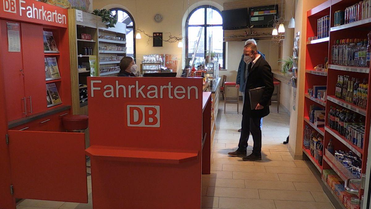 Der Bahnhofskiosk in Dingolfing.