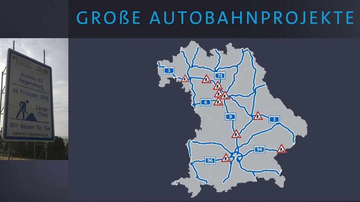 Karte: Die größten Autobahnprojekte im Jahr 2020