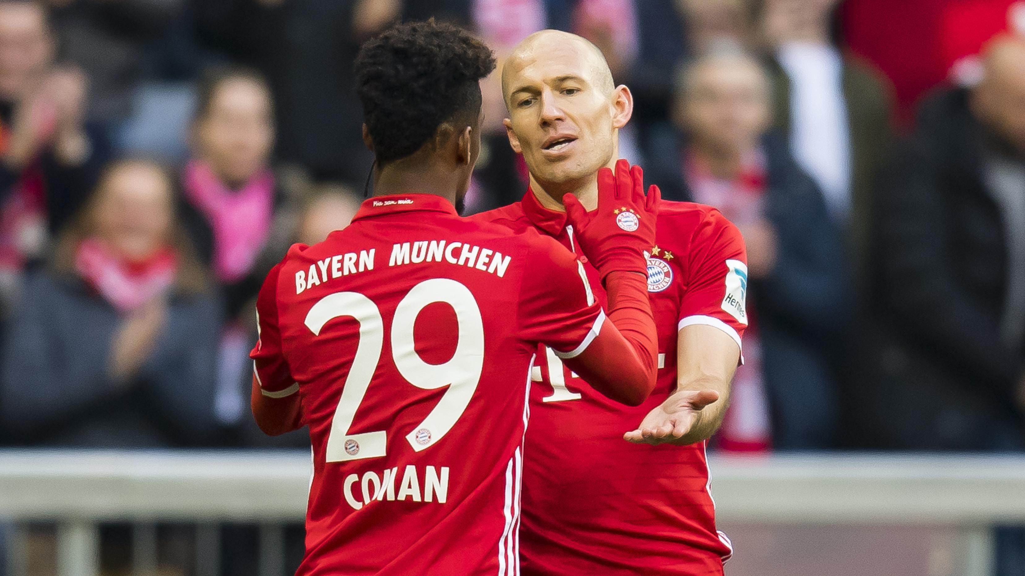 Arjen Robben und Kingsley Coman