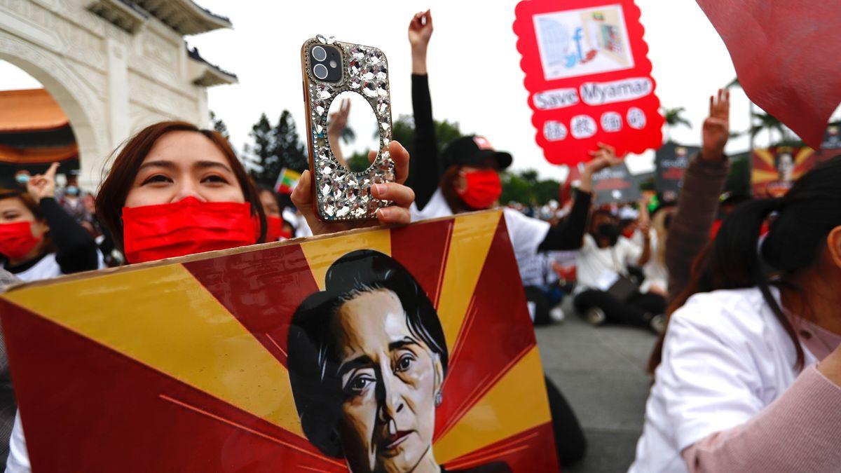 Archivbild von Protesten im März in Myanmar