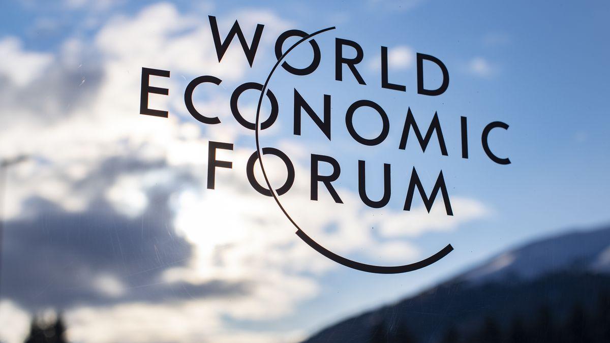 Schriftzug zum Weltwirtschaftsforum
