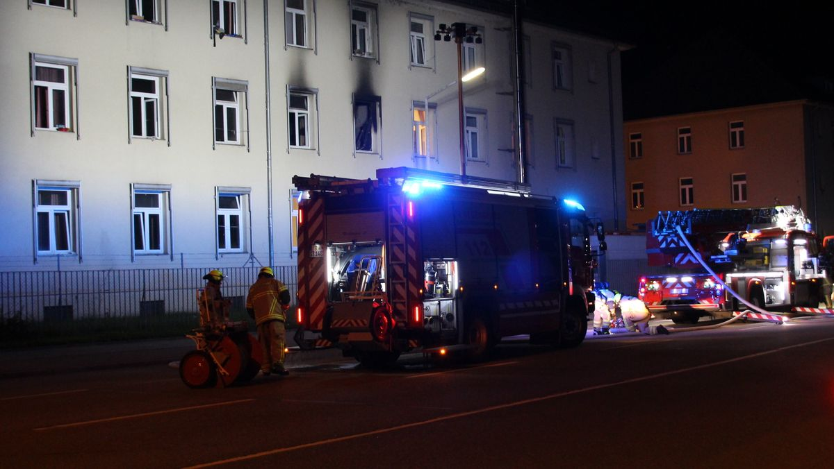 Feuerwehreinsatz an Regensburger Gemeinschaftsunterkunft