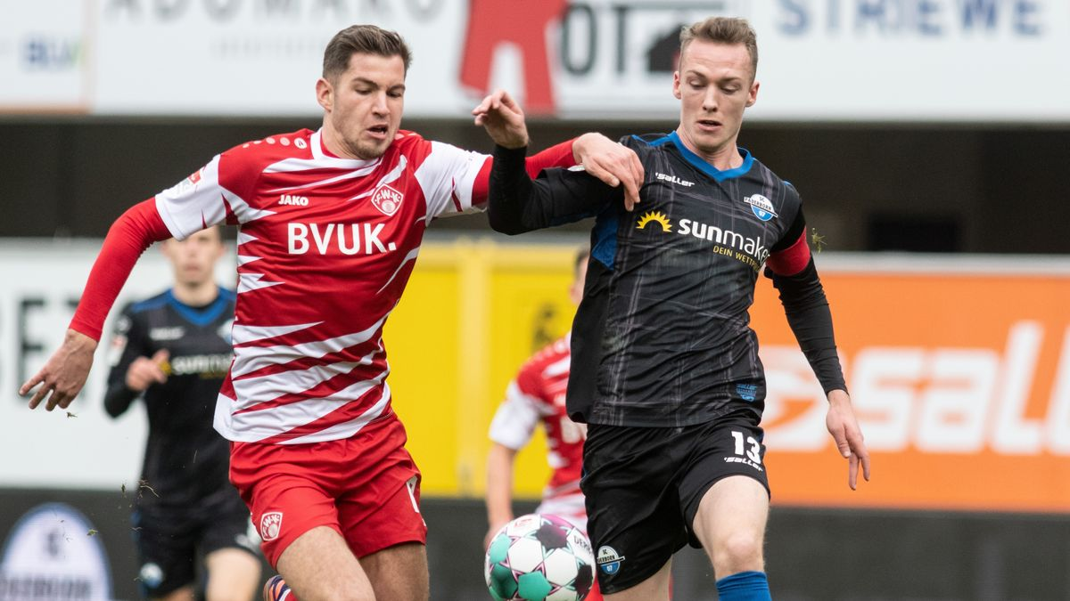 Spielszene SC Paderborn - Würzburger Kickers