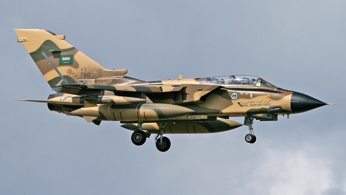 Ein Tornado der saudi-arabischen Luftwaffe