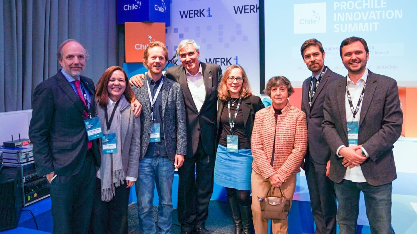 Wichtige Vertreter bayerisch-chilenischer Wirtschaftsbeziehungen beim Gruppenfoto