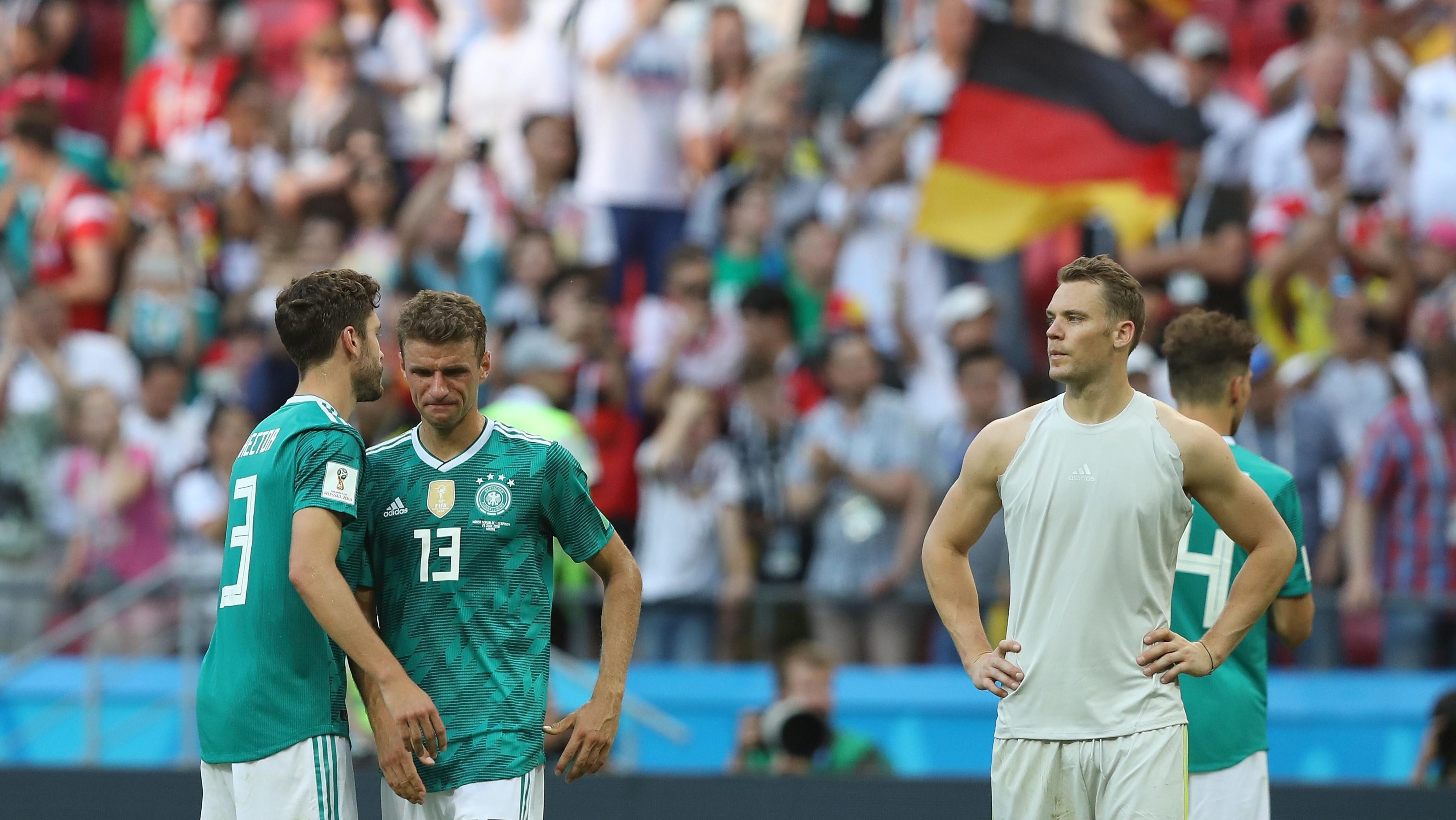 Enttäuschung nach dem WM-Aus