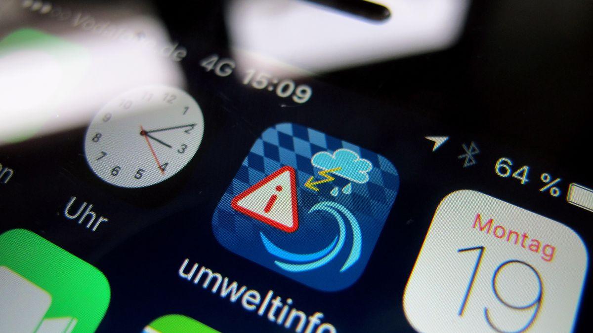 Wetter-App auf einem Smartphone