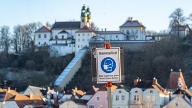 Im Stadtgebiet von Passau herrscht Maskenpflicht | picture alliance/dpa/Armin Weigel