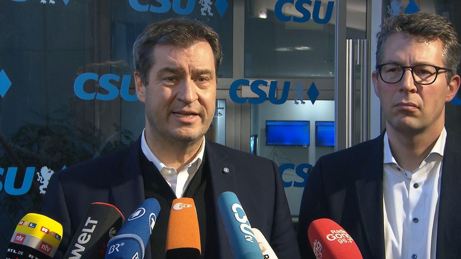Markus Söder und Markus Blume, CSU