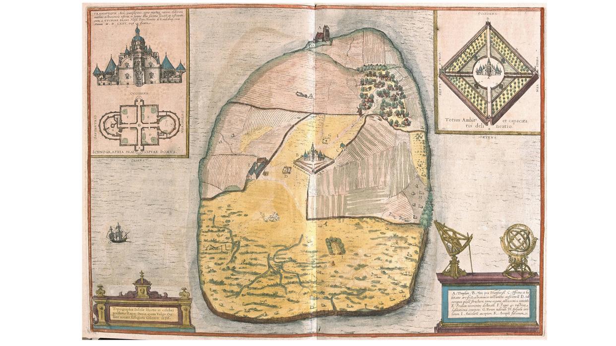 Insel Ven, auf der das  Observatorium von Tycho Brahe stand.