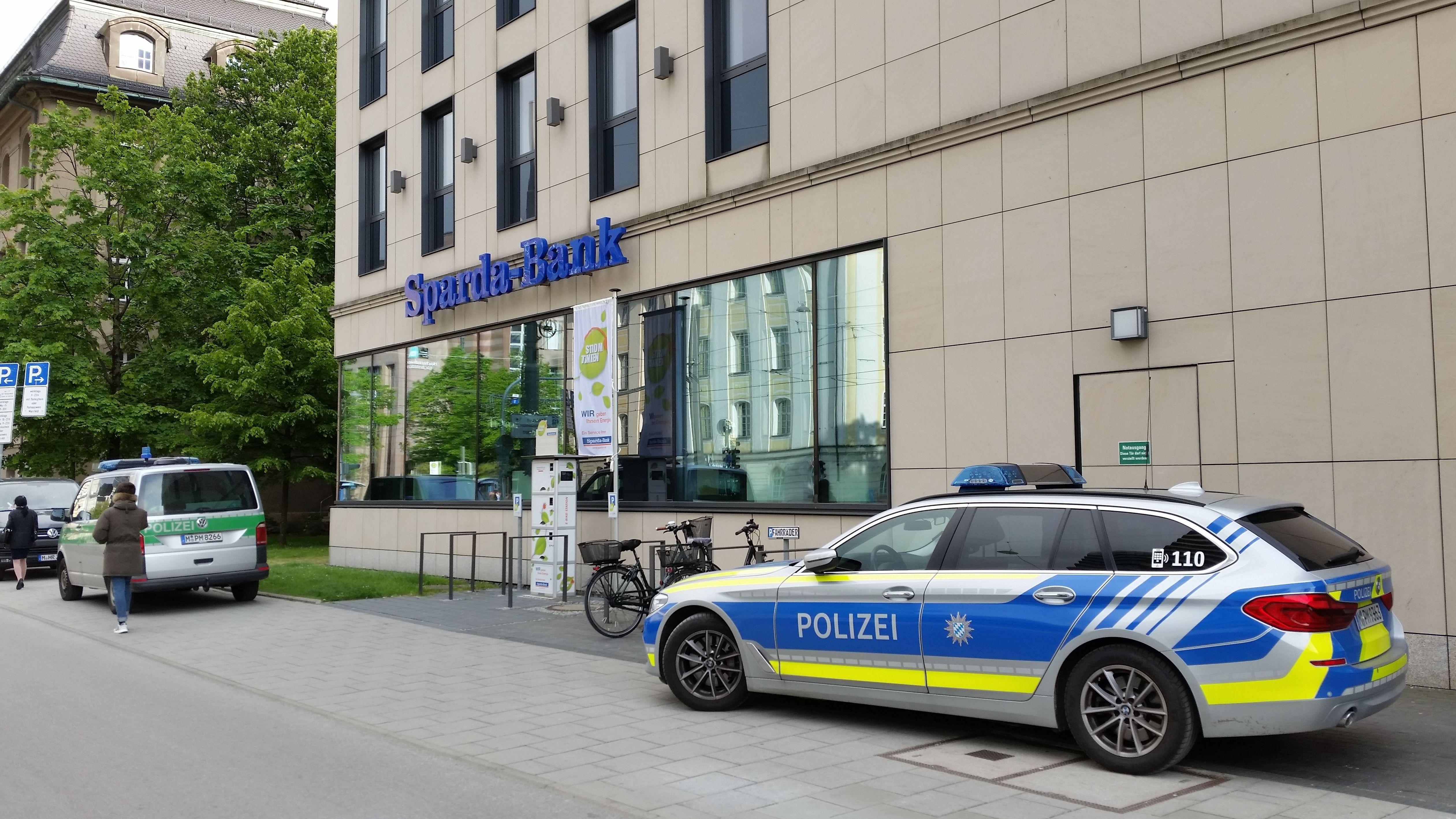 Banküberfall gegenüber dem BR-Funkhaus in München