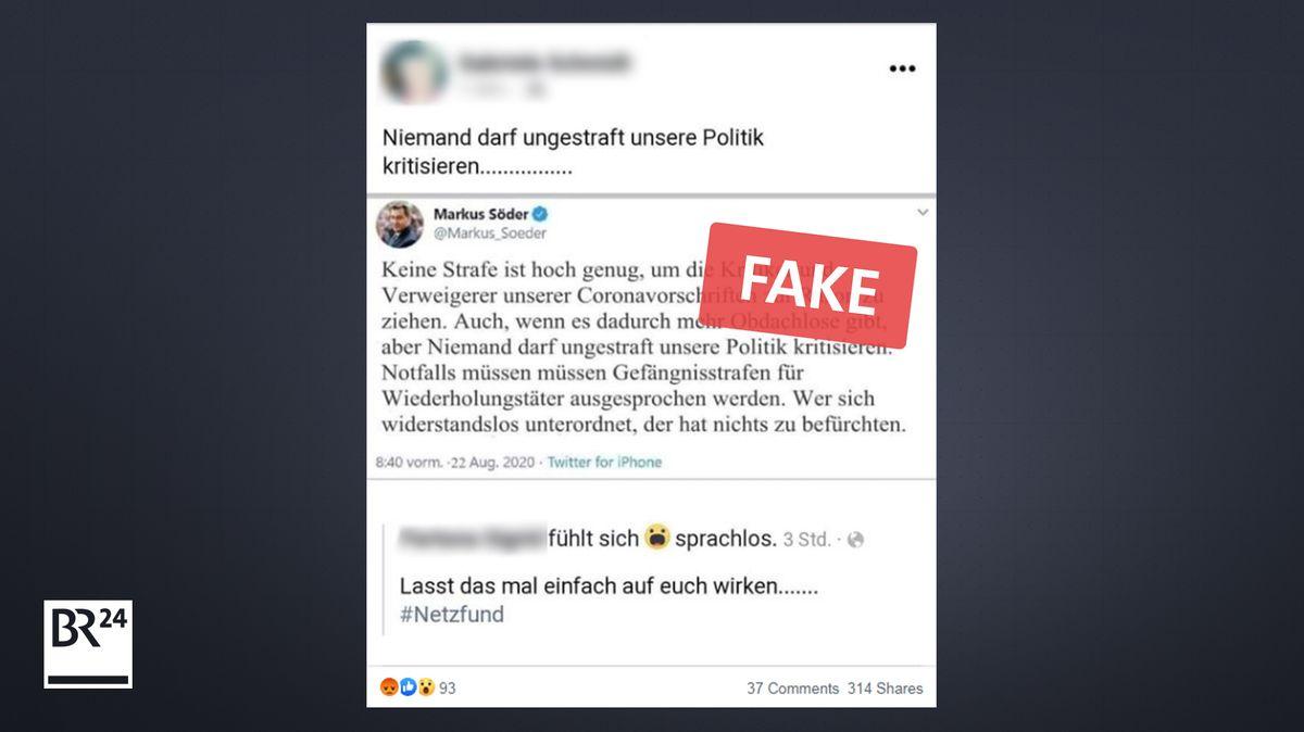 Vor allem auf Facebook verbreitete sich der gefälschte Screenshot
