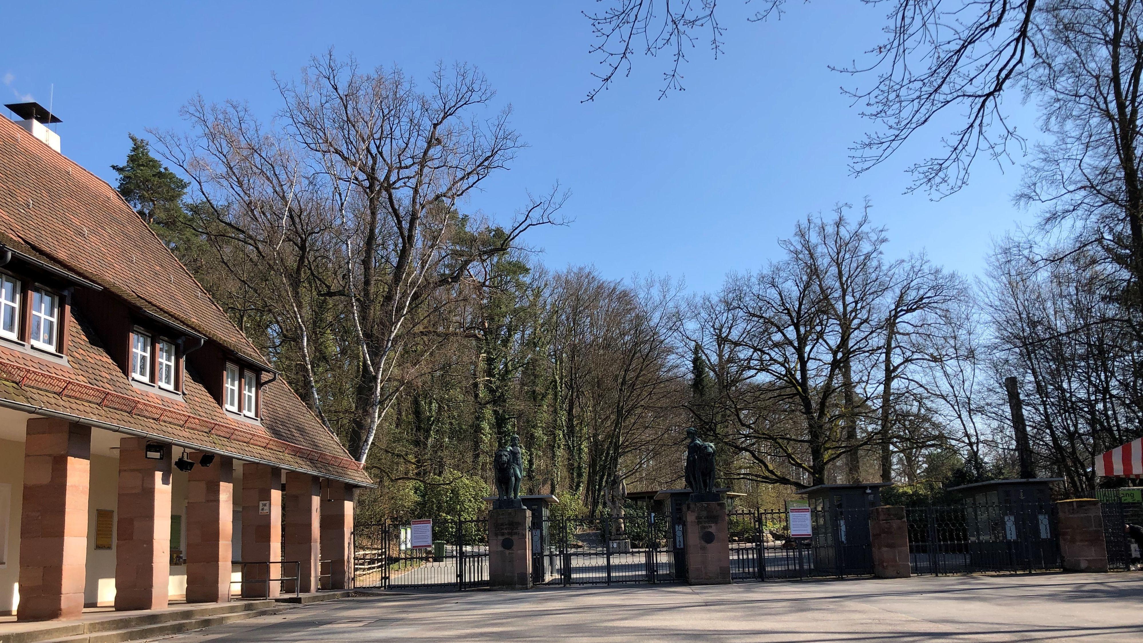 Eingangsbereich des Nürnberger Tiergarten