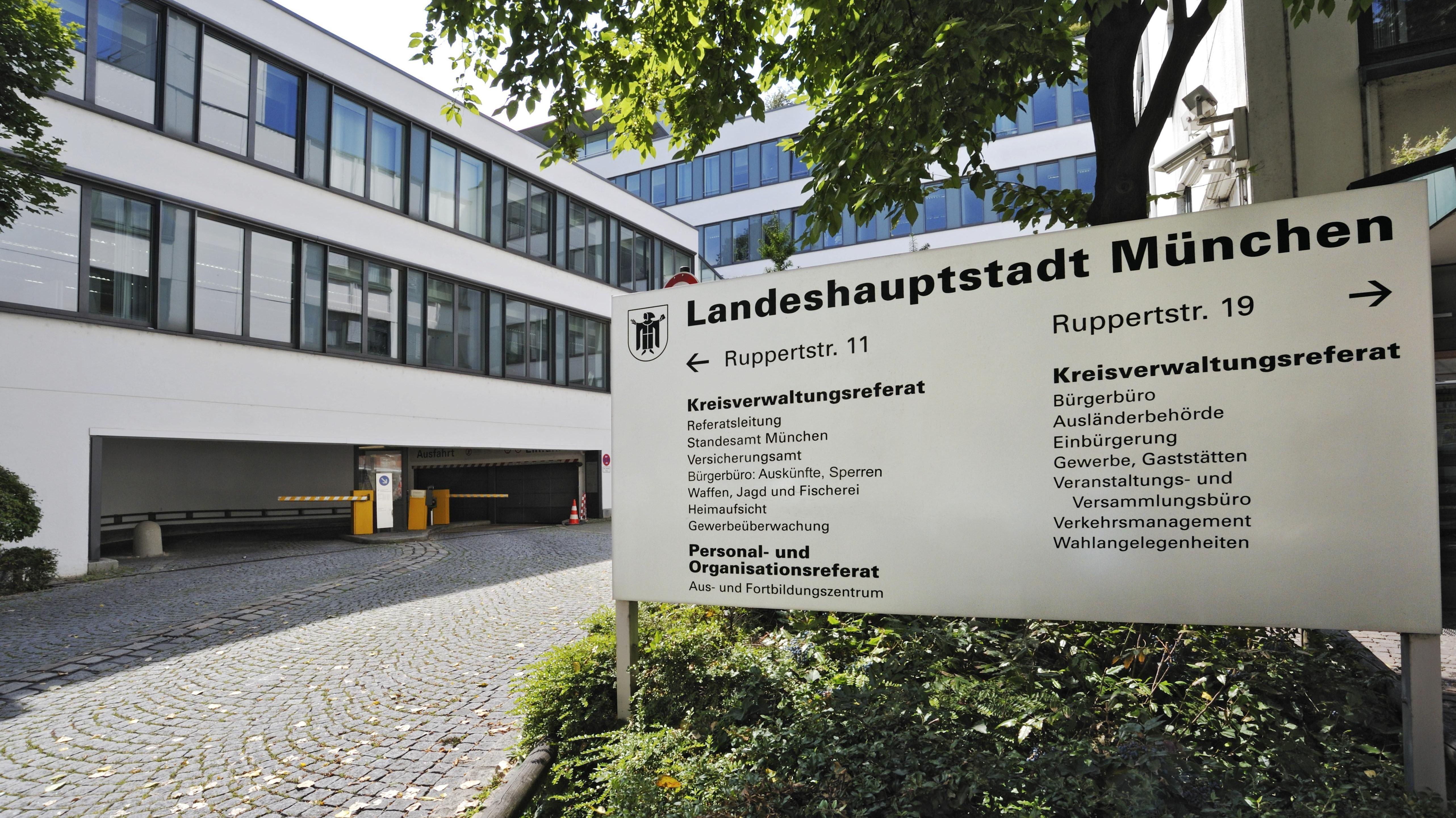 Eingang des Kreisverwaltungsreferats in München