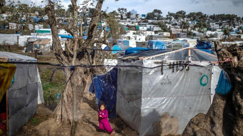 Flüchtlingslager Moria auf Lesbos und wilde Zelte