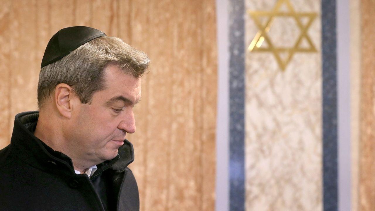 Ministerpräsident Söder besucht Synagoge