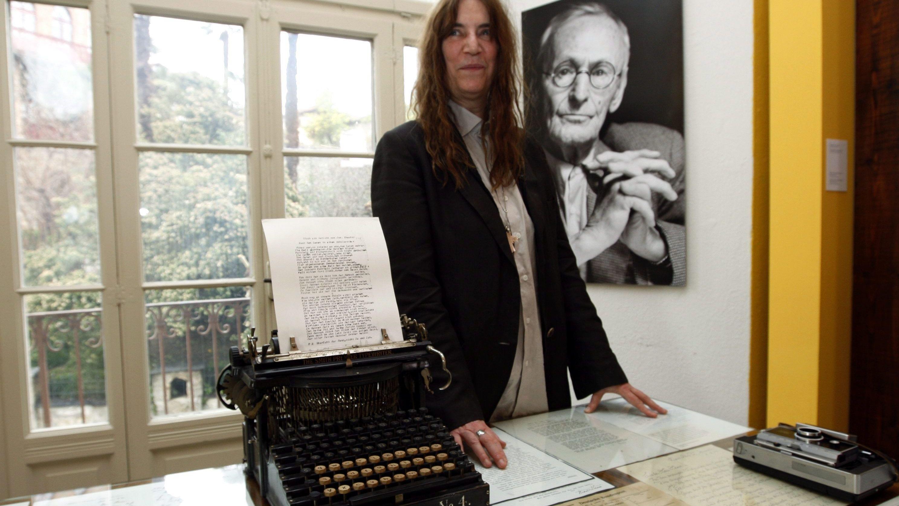 Punk-Ikone und Schriftstellerin Patti Smith im Hermann Hesse-Museum