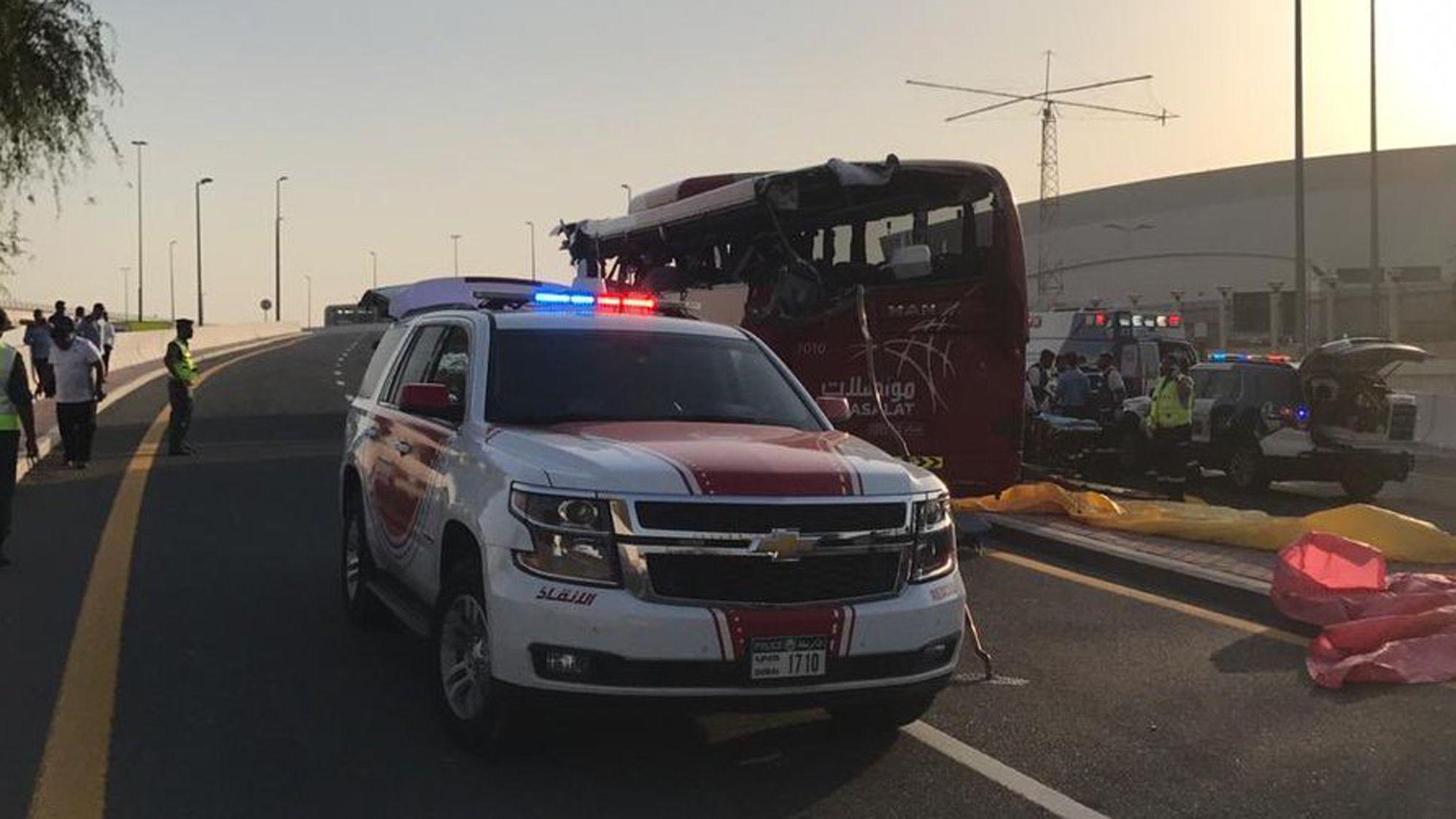 Busunglück in Dubai