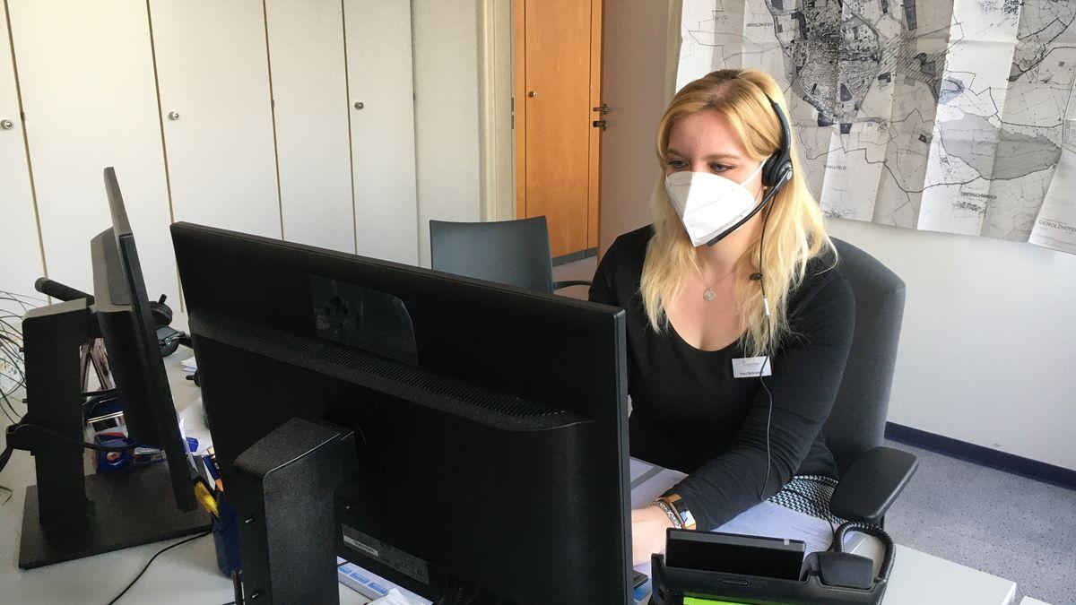 Kontaktermittlerin im Gesundheitsamt Schweinfurt