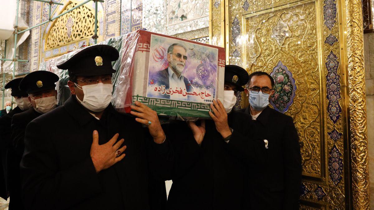 Zeremonie nach dem Attentat  auf den iranischen Atomwissenschaftler Mohsen Fakhrizadeh