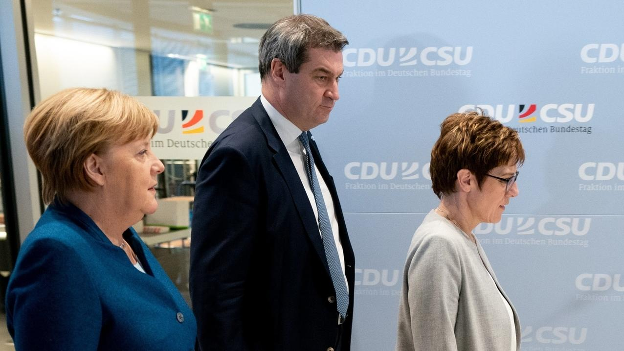 Angela Merkel, Markus Söder, Annegret Kramp-Karrenbauer