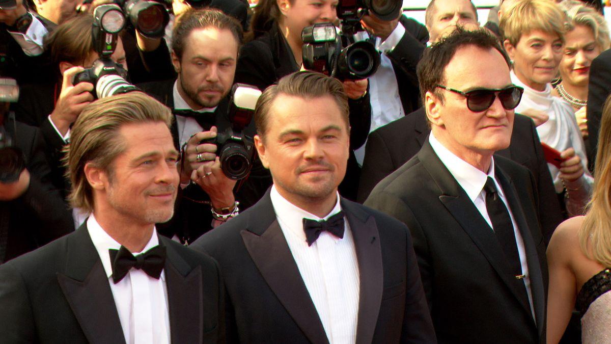 Quentin Tarantino, Brad Pitt, Leonardo DiCaprio in Cannes 2019