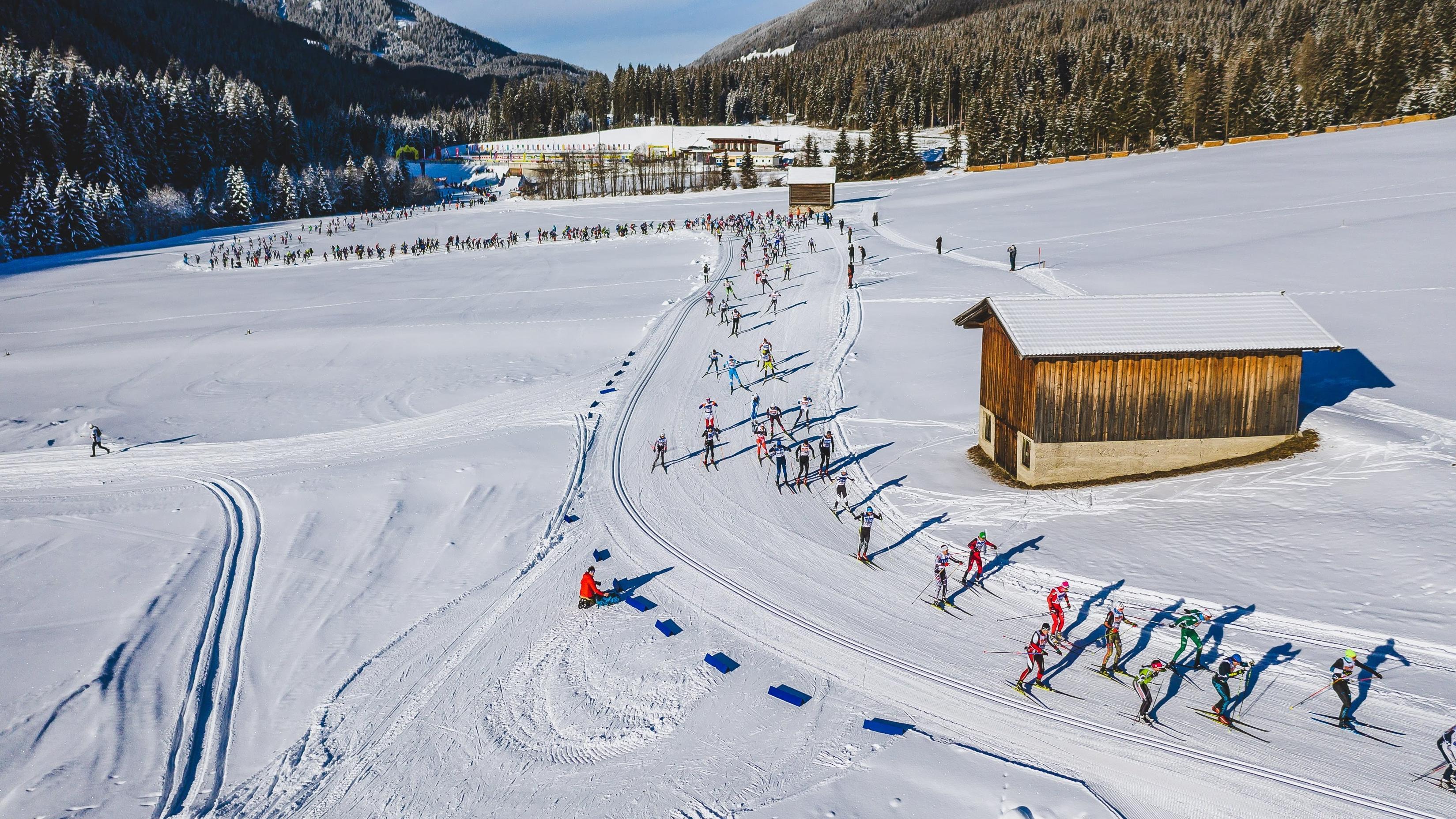 Langlauf-Marathon in den Dolomiten