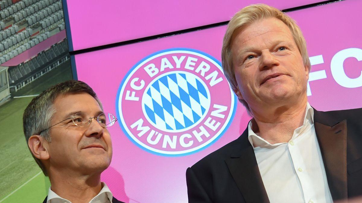 FC-Bayern-Präsident Herbert Hainer und Vorstandsvorsitzender Oliver Kahn