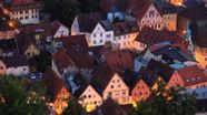 Die Obere Stadt in Kulmbach von oben | Bild:picture alliance/Bildagentur-online/Celeste