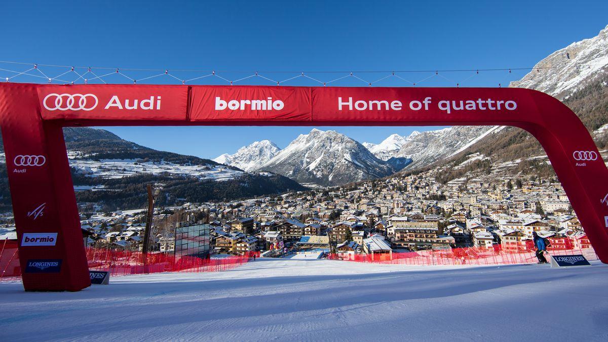 Zielraum beim Ski-Weltcup in Bormio