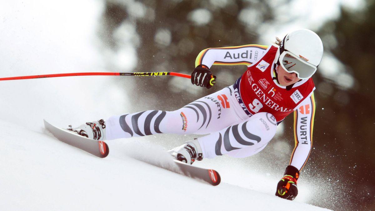 Kira Weidle in Val di Fassa