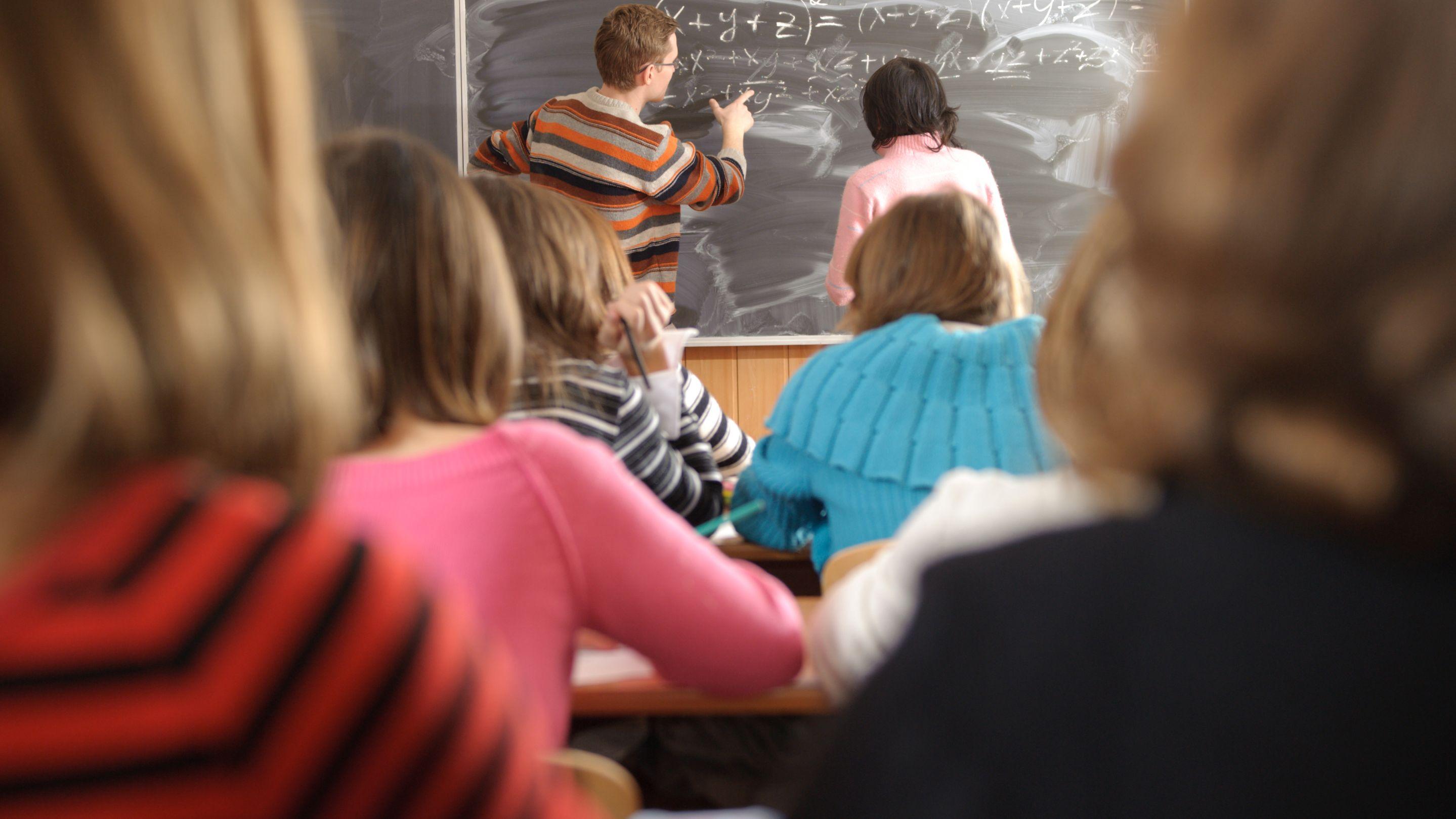 Symbolbild: Schüler in einer Klasse