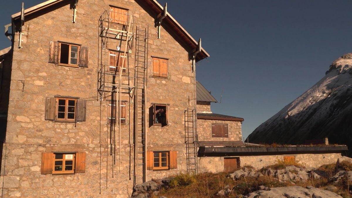 Das Prinz-Luitpold-Haus im Allgäu muss auf den Winter vorbereitet werden.