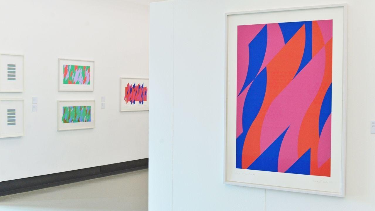 Bridget Riley-Ausstellung Würzburg