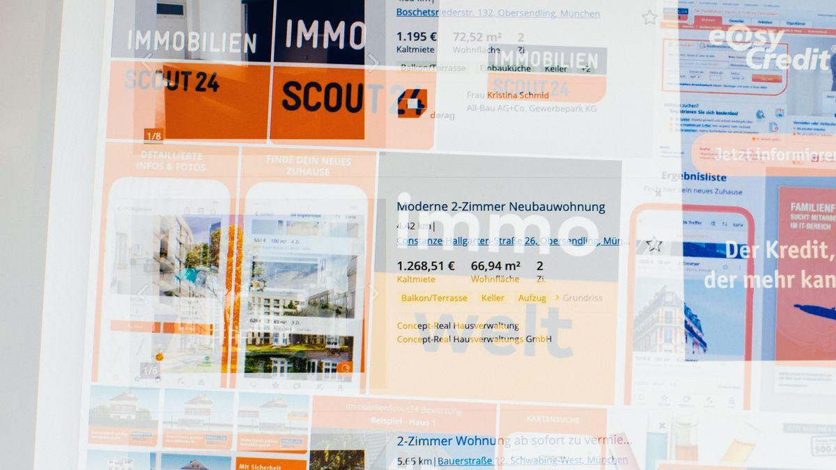 Collage verschiedener Immobilienportale und Wohnungsanzeigen