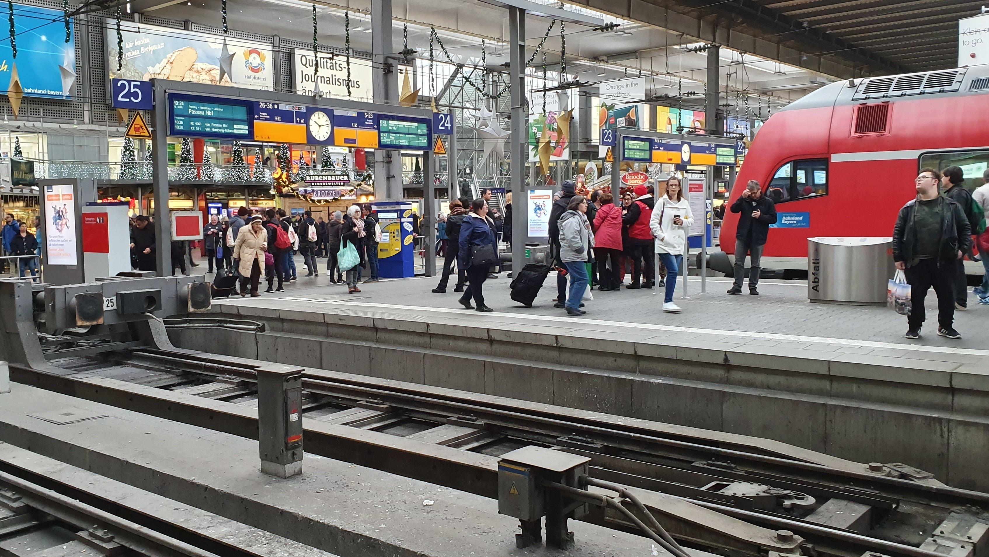 Stromausfall am Hauptbahnhof München