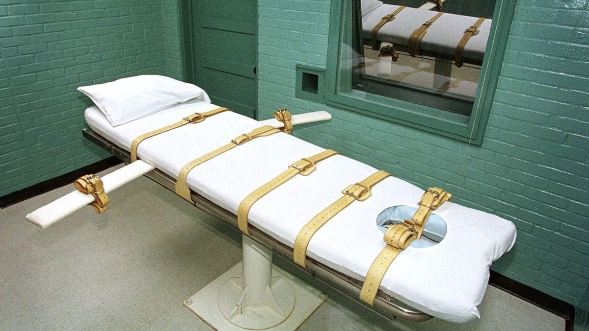 Eine Hinrichtungszelle in Huntsville im US-Bundesstaat Texas.