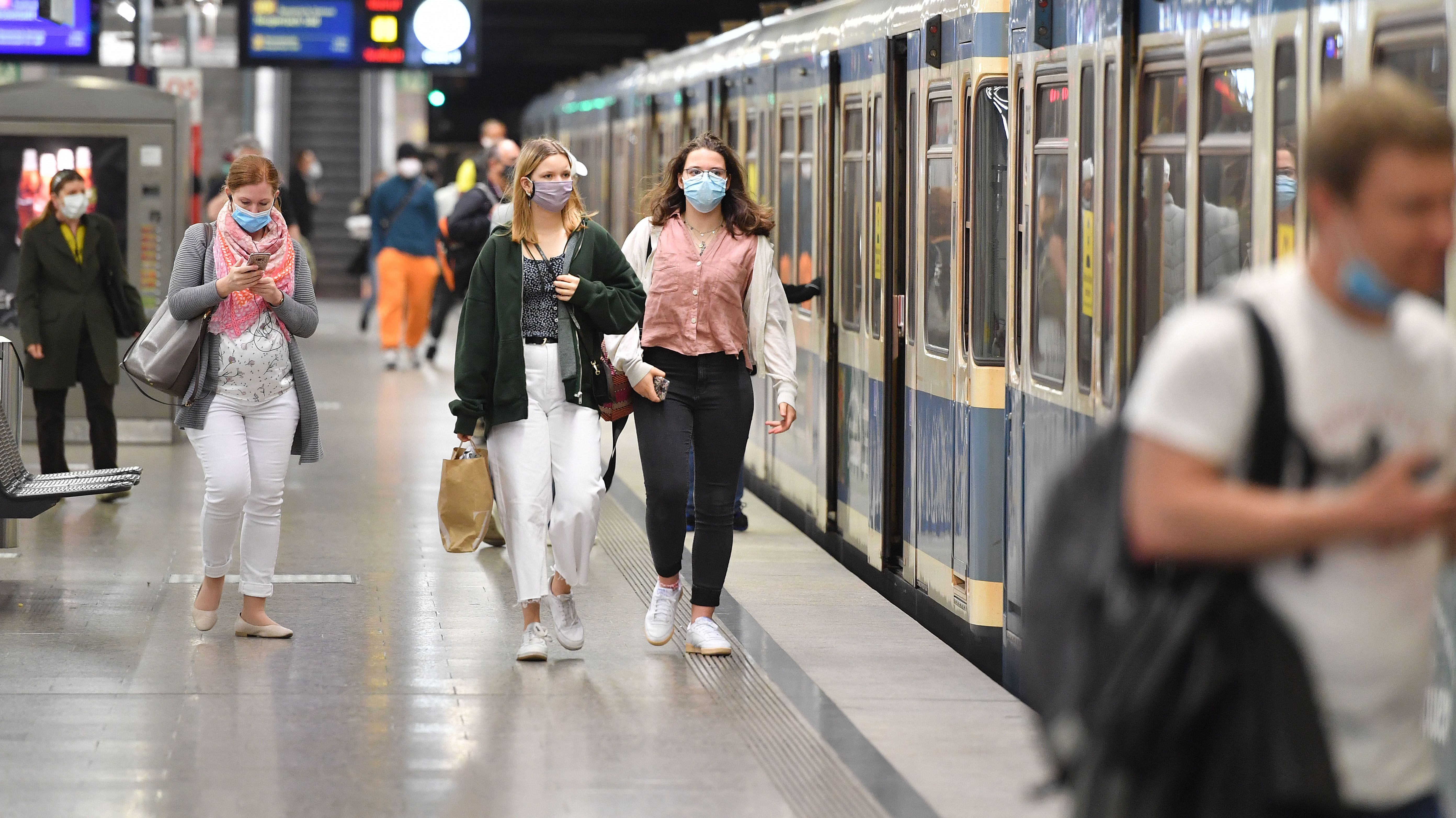 Eine U-Bahn-Station in München.