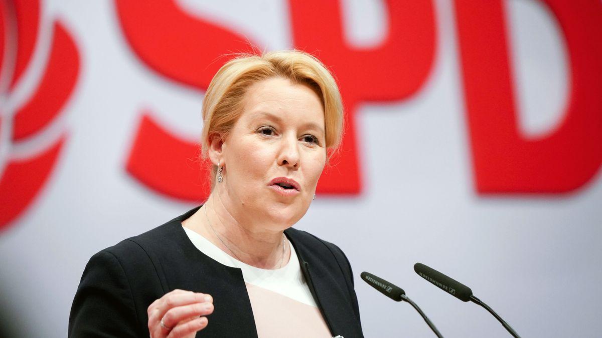 Bundesministerin für Familie, Senioren, Frauen und Jugend beim SPD-Bundesparteitag.