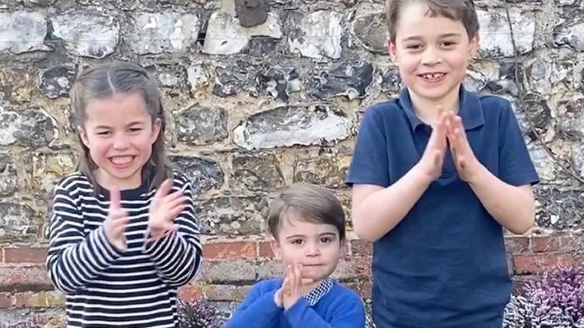 Die Kinder von Kate und Prinz William - George, Charlotte und Louis - applaudieren Helfern für ihren Einsatz im Kampf gegen das Coronavirus.