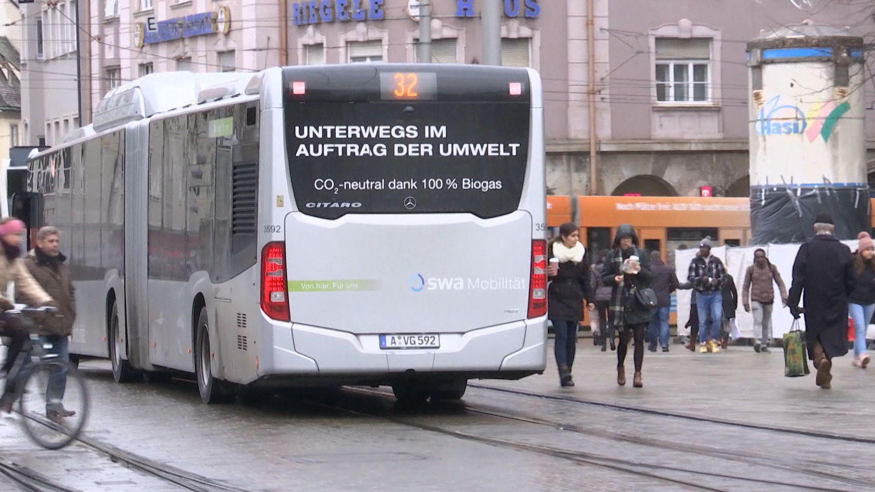 Klimaschutz im Nahverkehr: Augsburg setzt auf Biogas-Busse