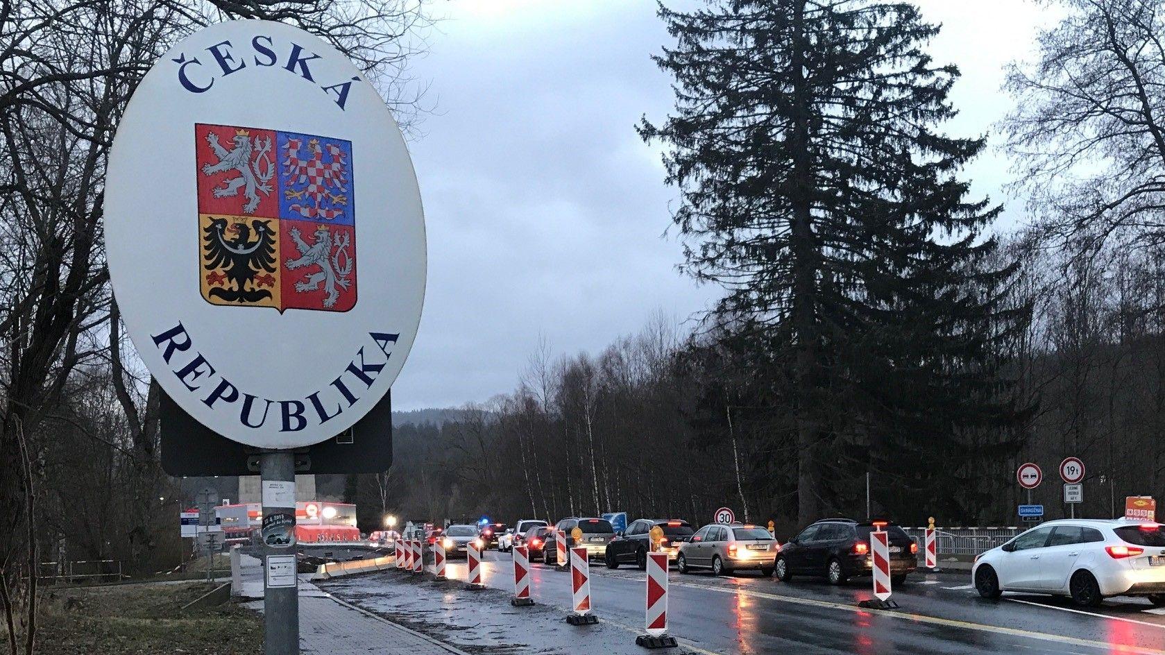 An der deutsch-tschechischen Grenze