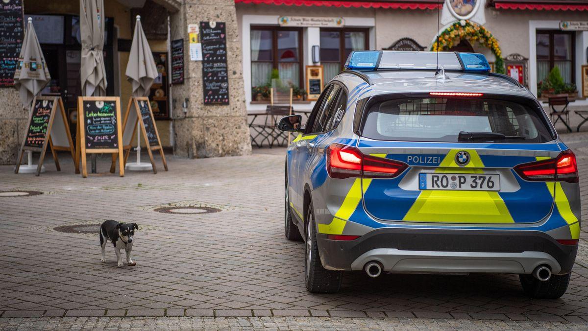 Polizeiwagen in Berchtesgaden
