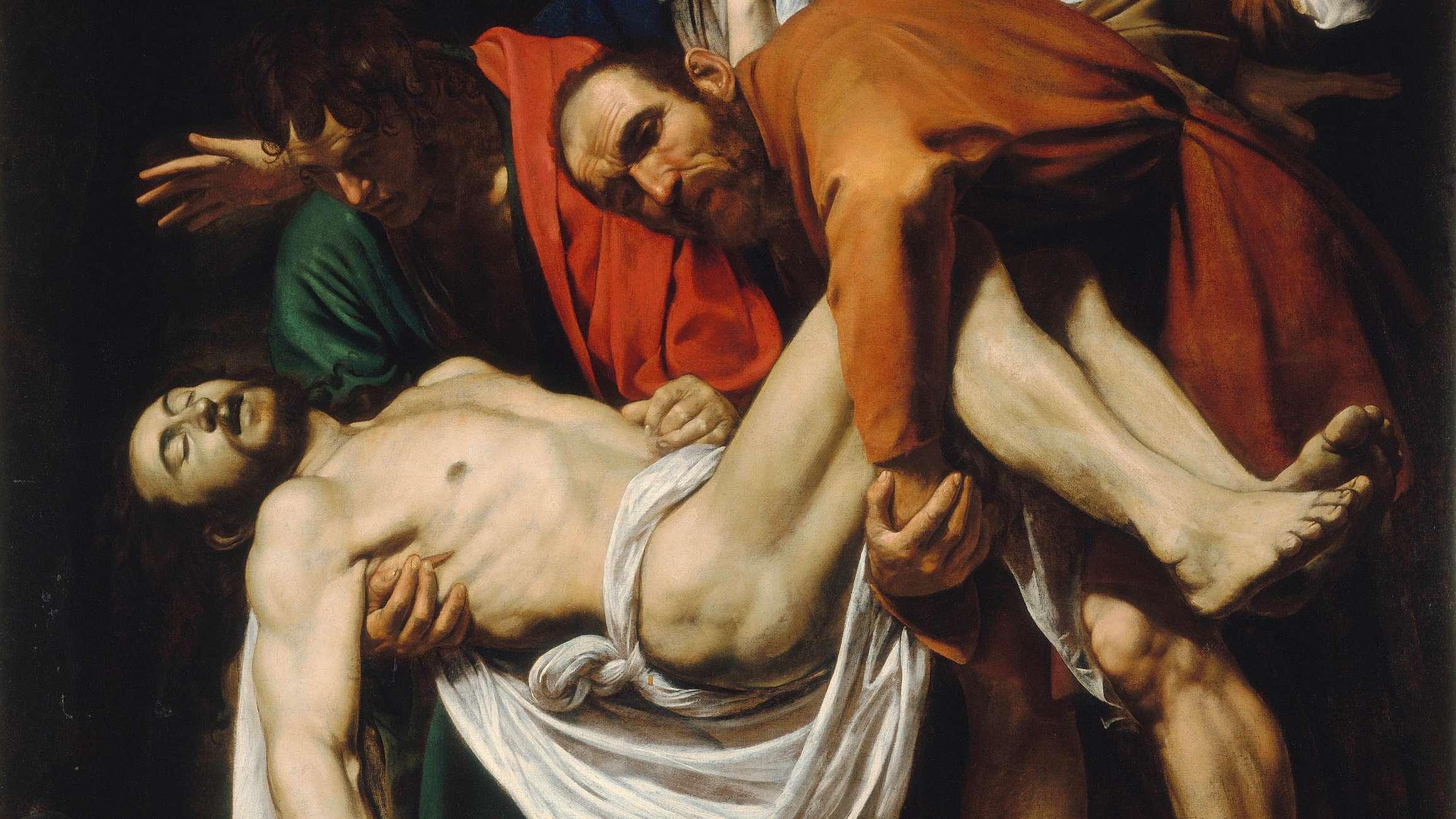 "Caravaggio ""Die Grablegung Christi"" (1602/03) - Ausschnitt"