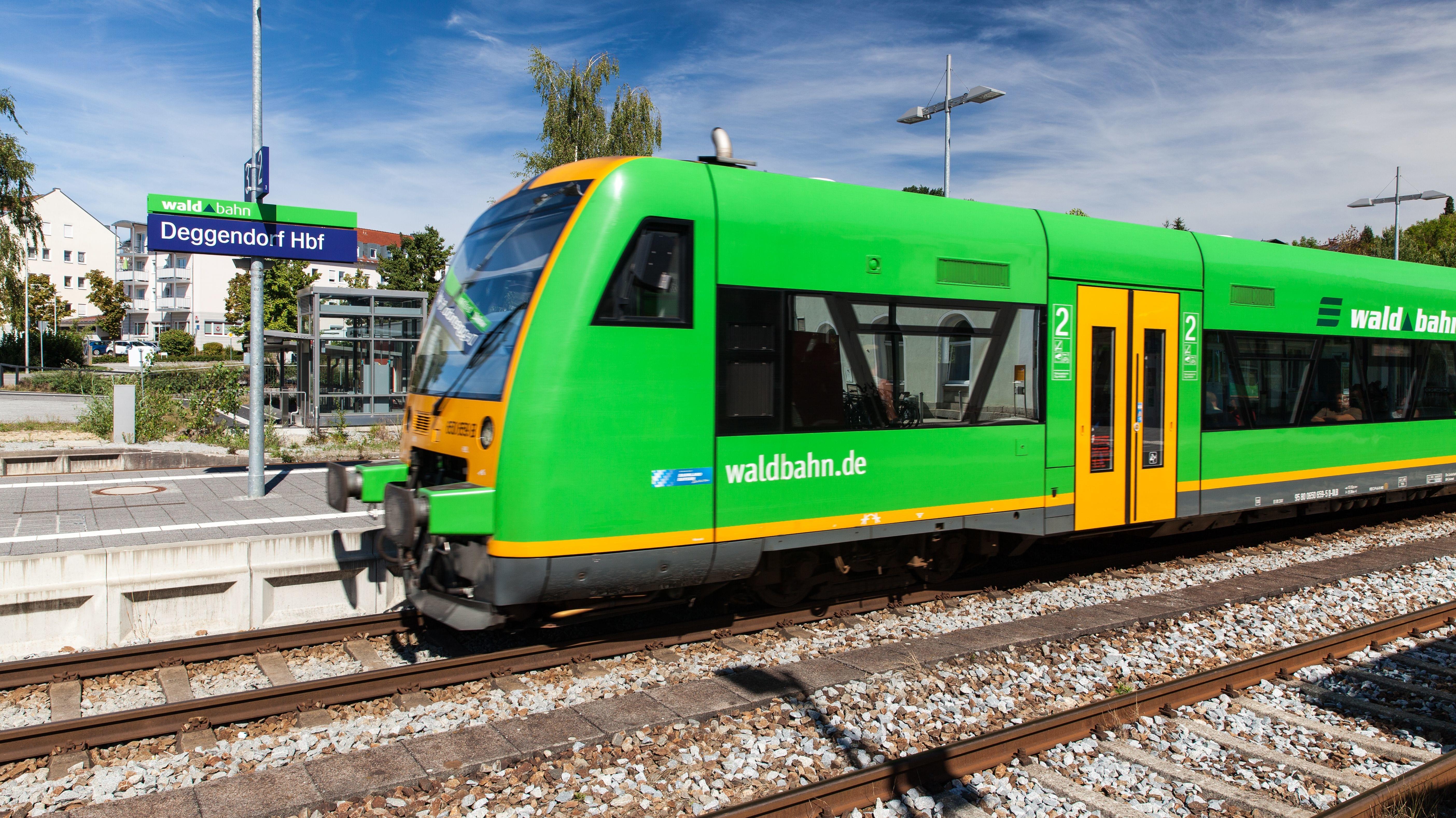 Die Waldbahn im niederbayerischen Deggendorf.