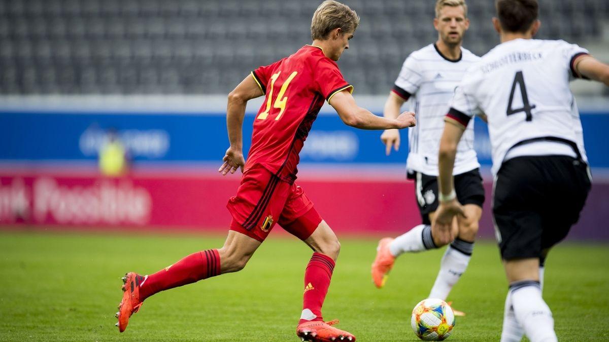 Spielszene Belgien - Deutschland