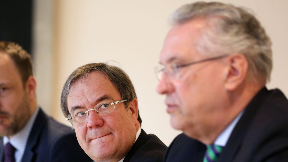 Der bayerische Innenminister Joachim Herrmann (CSU) und Nordrhein-Westfalens Ministerpräsident Armin Laschet (CDU).