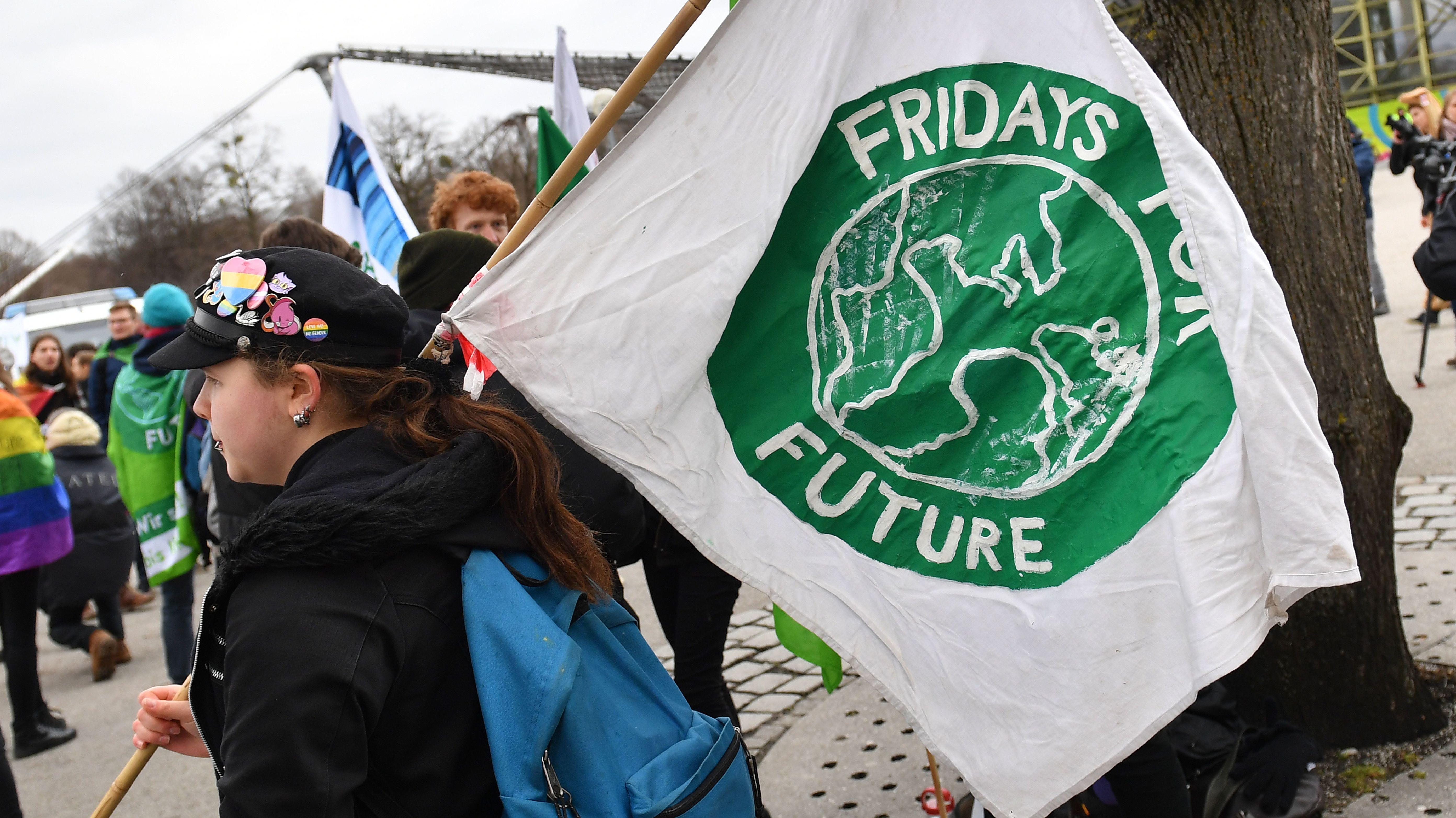 Jugendiche bei einer Fridays for Future-Demo